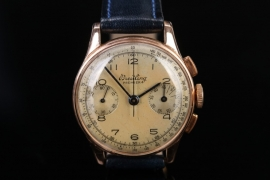 Breitling - Chronograph 18kt gold case