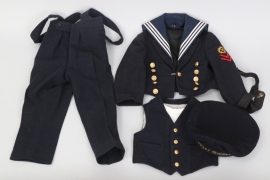 German 1930s naval children's uniform