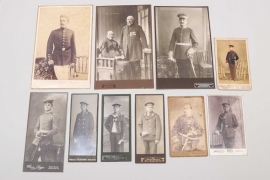 Imperial Germany - lot of ten portrait photos