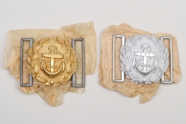 Two Kriegsmarine officers belt buckles