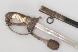Kaiserliche Marine officer's lion head sabre & portepee - Eickhorn