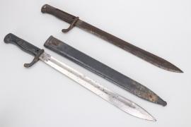 Bavaria - WWI two bayonets SG 98/05 n.A.