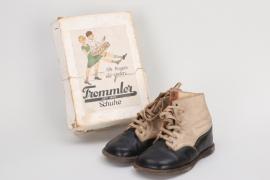 """Third Reich """"Trommler"""" children's shoes in box"""
