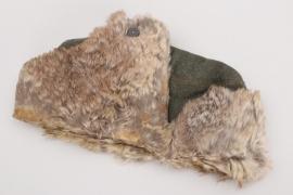 Heer/Waffen-SS winter fur cap - worn