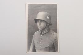 Reichswehr Inf.Rgt.19 portrait photo with helmet