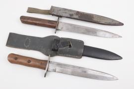 Italian M39 combat knife & Austrian trench knife M17