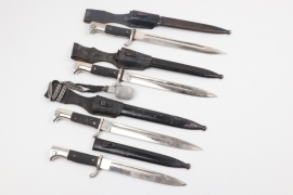 Wehrmacht lot of four KS 98 dress bayonets