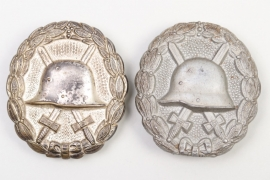 2 x WWI Wound Badge in Silver - DRGM