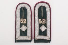 Heer Nebelwerfer-Regiment 52 shoulder boards - NCO