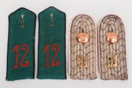 Prussia - 2 pair of shoulder boards