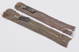 2 x Luftwaffe jumping smock zippers