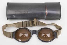 OFw. Bechstädt - Luftwaffe splinter protection goggles in case