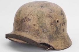 Wehrmacht M35 camo helmet - EF62