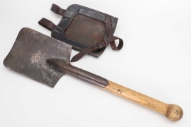 Wehrmacht field shovel + holster + 1943