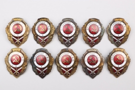 Soviet Union - lot of ten Flak Badges on screwback