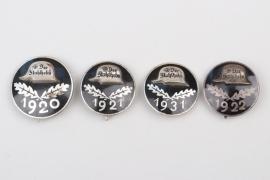 4 x Service Entry Badge of Der Stahlhelm, Bund der Frontsoldaten