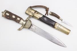 19th century German forestry hunting dagger - Hirschfänger