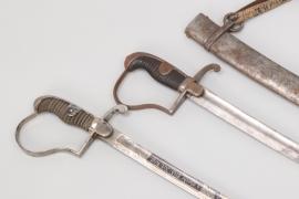 """Prussia - """"4. Garde Feld-Art.-Rgt."""" sabre & """"Blücher"""" cavalry sabre"""