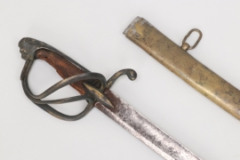 Cavalry sabre with brass scabbard - 19th century