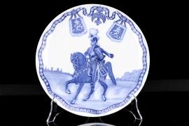 Denmark - 1912 Gardehusarregimentet jubilee porcelain plate