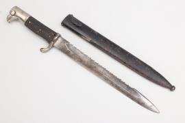 WWI KS98 sawback bayonet - Eickhorn