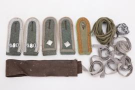 Heer Inf.Rgt.480 / Panzergrenadier Rgt.480 shoulder board grouping