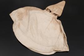 WW1 spike helmet camo cover + paper tag