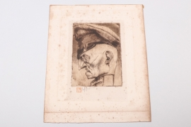 Belgium - etching by Victor Mignot - 4