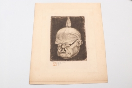 Belgium - etching by Victor Mignot - 1