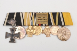 1870 Iron Cross 2nd Class 7-place medal bar