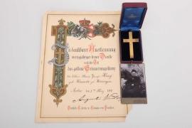 Prussia - Golden Commemorative Cross for femaleservants grouping