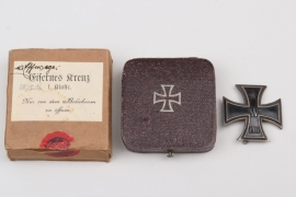 1914 Iron Cross 1st Class in case & outer carton - engraved