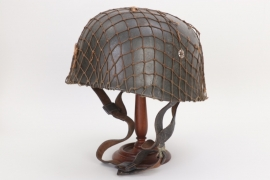 Luftwaffe M38 paratrooper helmet with camo net