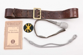 Wehrmacht officer's belt + portepee & more