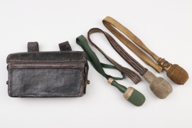 Imperial Germany - portepees & M1874 ammunition pouch