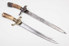 "Two forestry daggers ""Hirschfänger"""