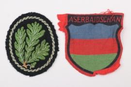 Heer Aserbaidschan volunteer's sleeve badge & Jäger badge