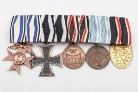 Bavaria - WWI 5-place medal bar