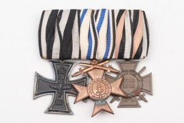 Bavaria - WWI 3-place medal bar