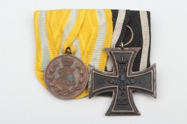 Saxony - WWI 2-place medal bar