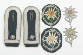 Gebirgsjäger insignia set Feldwebel