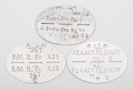 Wehrmacht three military ID tags