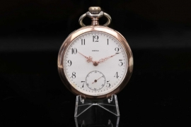 Omega - Silver pocket watch