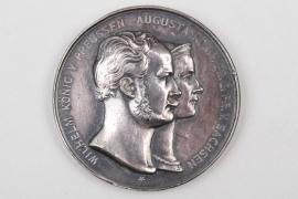 Silver Wedding Jubilee Medal - Wilhelm & Augusta