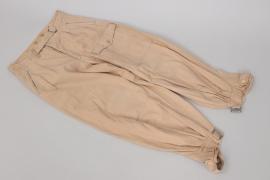 Afrika Panzer Fahnenjuncker - Luftwaffe tropical straight trousers