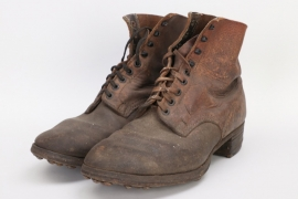Wehrmacht low ankle field boots - Rb-numbered