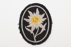"""SS-Hscha. Lösch - Waffen-SS """"Prinz Eugen"""" Edelweiss sleeve badge"""
