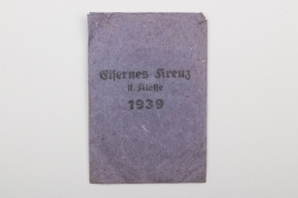 Bag of issue to 1939 Iron Cross 2nd Class
