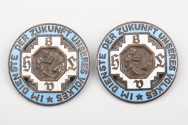 Bavaria - two Midwife Merit Brooches - Poellath