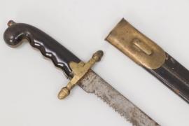 "Fascine knife with sawback blade ""FM"" - unknown"